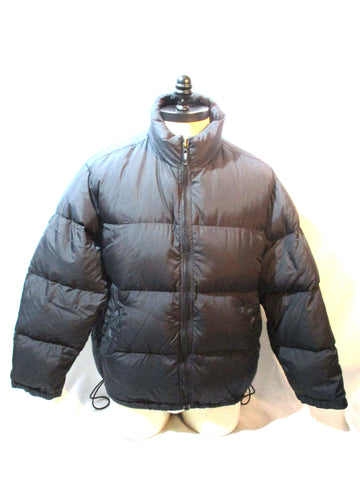 EDDIE BAUER Ski Snowboard Down Puffer JACKET Coat BLACK M Winter Mens