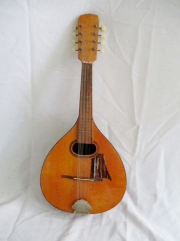 Handcrafted German Czech OCTAVE MANDOLIN Musical String Instrument Solid Wood