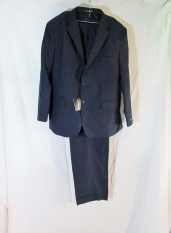 NEW VITTORIO ST. ANGELO Single Breasted JACKET SUIT BLAZER NAVY 46R 40W