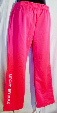 Youth Girls UNDER ARMOUR Sweatpants Athletic Workout Yoga Pants NEON PINK XL