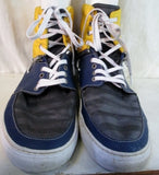 Mens CREATIVE RECREATION Hi Top Boat Sneaker Trainer Athletic Shoe 12 BLUE YELLOW