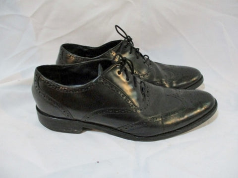 Mens COLE HAAN Grand.OS Wingtip Oxford Shoe 10 BLACK Loafer Brogue Derby C20274