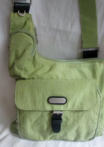 BAGGALLINI Nylon shoulder travel bag man purse crossbody GREEN AVOCADO vegan organizer