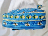 VERA BRADLEY Vegan BEES BUMBLEBEE organizer Cosmetics Case Makeup Bag BLUE Jewelry