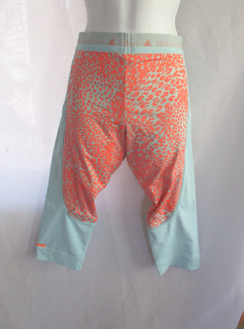 ADIDAS STELLA MCCARTNEY RUN TIGHT Legging M AQUA PEACH LEOPARD