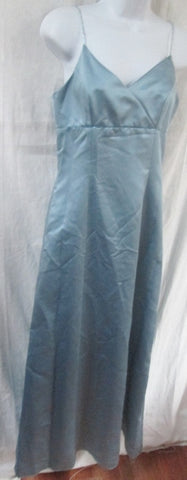 WOMENS RIMINI Maxi Full Long Sleeveless Formal Dress 4 SILVER POWDER BLUE