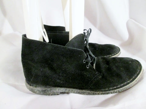 Mens CLARKS ORIGINAL DESERT BOOT JAMAICAN BLACK Suede Chukka ANKLE BOOTS 10 Leather
