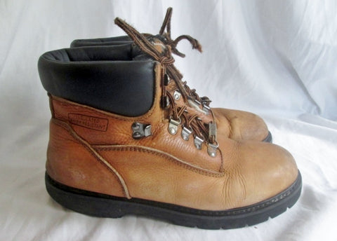 Mens FIVE STAR WATERPROOF Leather HIKING Work Boots Trekking BROWN 10 W