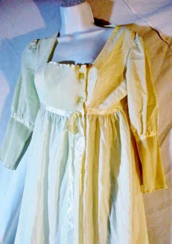 Womens Vintage Duchess B. ALTMAN USA Made Sweetheart Nightgown S Creme