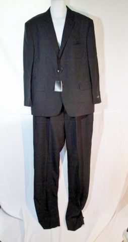 NEW VITTORIO ST. ANGELO JACKET SUIT BLAZER Pant BLACK 46R Formal Single breasted