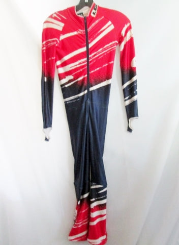 LOUIS GARNEAU Cycling Fitness Racing Athletic Skinsuit Jumpsuit RED BLUE Jr-M Romper