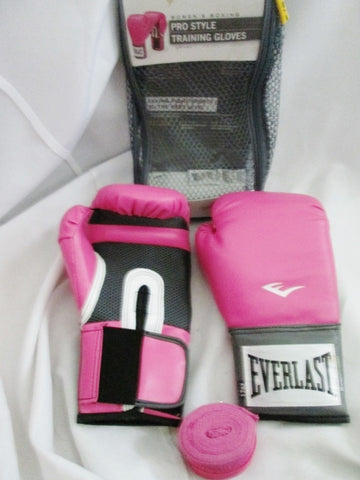 Everlast Women's Pro Style Training Gloves Boxing Sparring Punching PINK MITTS