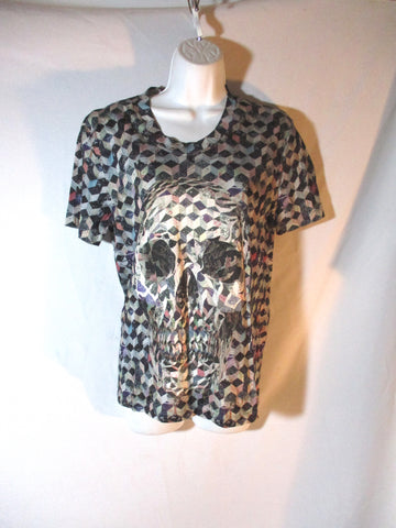 NEW ALEXANDER MCQUEEN OPTICAL ILLUSION SKULL T-Shirt S Top