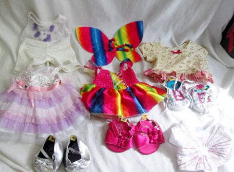 HUGE LOT BUILD-A-BEAR Doll Plushie Clothing Clothes Outfits Shoes Accessories