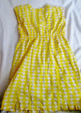 Girls HANNA ANDERSSON Dress YELLOW WHITE DIAMOND 130 8 Geometric Kids