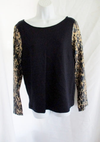 NEW DRIES VAN NOTEN Sweater Top Shirt 36 / 4 NAVY BLUE LEOPARD Pullover Italy