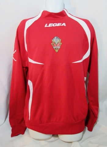 Mens LEGEA METRO STARS Sports Football Soccer Jersey XL RED WHITE Embroidered Shirt Top