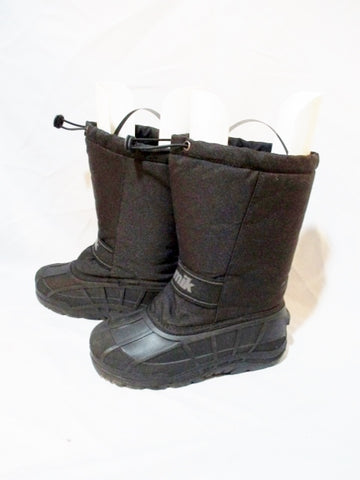 KAMIK SNOWRIDGE Insulated Duck Boot Shoe Snow Rain BLACK 6 WINTER