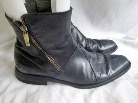 Mens OLIVER SWEENEY Leather Ankle Boots Shoes Booties STAR BLACK 8