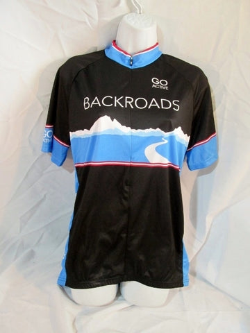 LOUIS GARNEAU GO ACTIVE BACKROADS Cycling Fitness Racing Jersey L Shirt Top