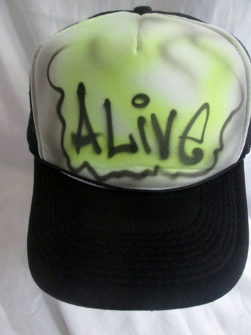 NEW OTTO AIRBRUSH 1980s ALIVE airbrush baseball cap hat BLACK Hip Hop