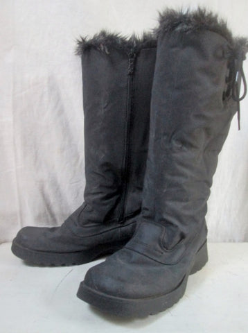 Womens TOTES Sherpa Mukluk Winter Lined Snow BOOTS Shoes BLACK 9 Vegan