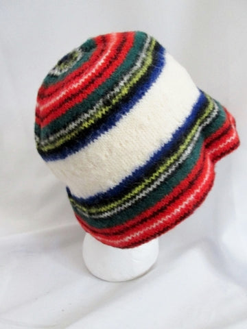 Vintage ROBERT MACKIE SCOTLAND ARCHIE BROWN & SON Bucket Wool Hat Cap
