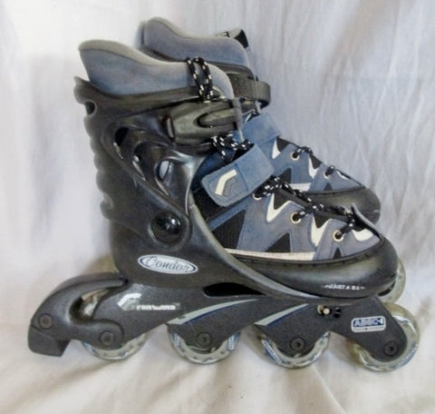 Youth CONDOR ROLLER INLINE SKATES HOCKEY Sz 1-4 Adjustable