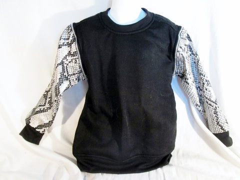 NEW Boys Kids GS115 Sweatshirt Convertible Top JACKET XL 7 SNAKESKIN BLACK Vest NWT