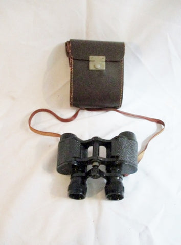 Vintage AURORE FRANCE Lightweight BINOCULARS Opera Glasses W/ Case Leather USA