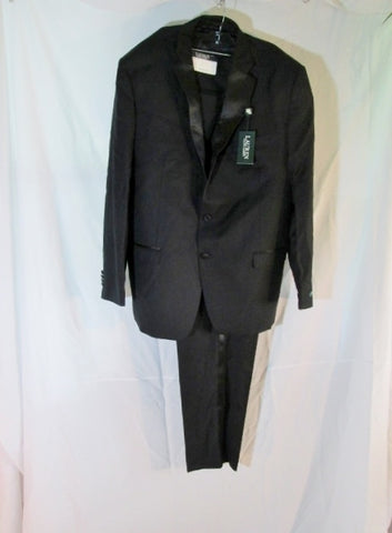 NEW RALPH LAUREN Tuxedo Sport Jacket Suit Pant 52L 48W BLACK Formal Wedding NWT Mens
