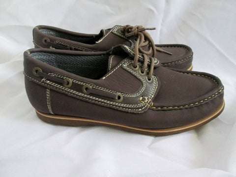 Womens LAND RIVER HANDSEWN Canoe Moc Shoe Boat Brown 10.5 41 Walking
