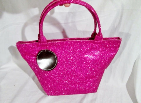 NWT NEW MILANO SERIES GLITTER TOTE Market Bag Beach Book Carryall PINK FUSCHIA