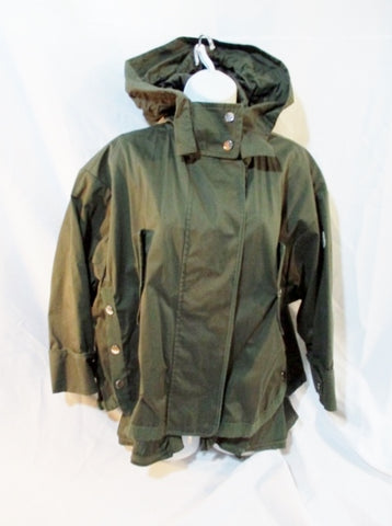 NEW Womens MONCLER FULL ZIP JACKET Coat Parka OLIVE GREEN