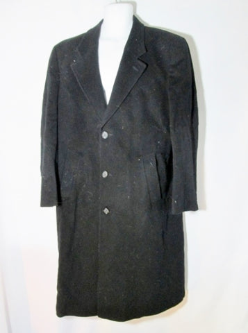 Mens KASPER MACEDONIA CASHMERE COAT jacket peacoat trench XL BLACK