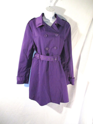 NEW NWT KENNETH COLE REACTION TRENCH COAT Jacket XXL PURPLE VIOLET