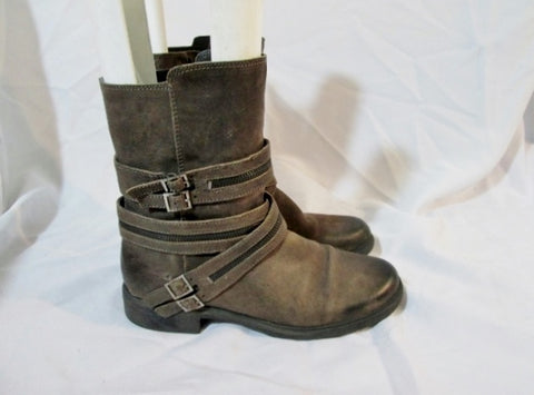 Womens VINCE CAMUTO TAVI Leather Ankle Boot Bootie 9 BROWN ZIPPER