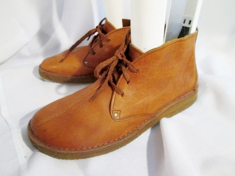 Mens CLARKS OF ENGLAND TREK DESERT BOOT Leather Chukka ANKLE BROWN 11.5 DARK TAN