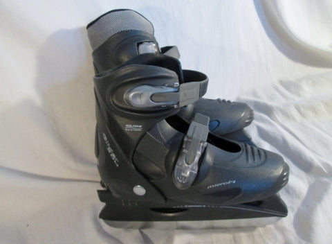 BOYS Girls GLIDER 500 MICROFIT Performance Ice Hockey Skates Sz 2-4 L Adjustable