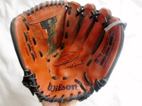 "WILSON 11"" A2459 BARRY BONDS Baseball Brown Leather Glove Softball Fielding"