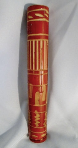 "12"" Handmade Wood Carved Rain Stick Percussion Instrument Folk Art Shaker Rainmaker"