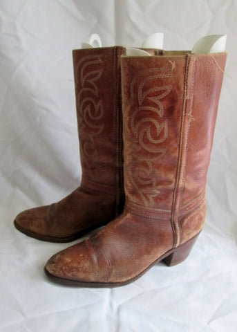 Womens BRAZIL Leather Riding HORSE Boot Cowboy Western 10 BROWN SADDLE