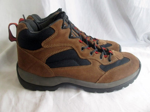 Mens LAND'S END 73781 Suede Leather Trail Hiking Boot Shoe 11 BROWN Trek