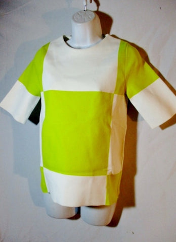 NEW NWT LOUIS VUITTON ITALY Knit Shirt Top S YELLOW WHITE WOMENS