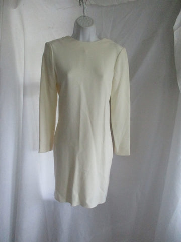 NWT NEW CELINE FRANCE Mini Jersey Cut-Out Dress 38 6 CREME WHITE CREAM