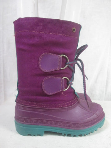 Kids Toddler Girls MADE IN USA Insulated Rain Snow Boots Winter PURPLE 10 Duck Shoes