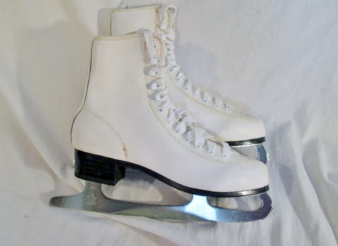 Womens Ladies SLM Made in CANADA Figure Ice Skates 9 White Winter Sports