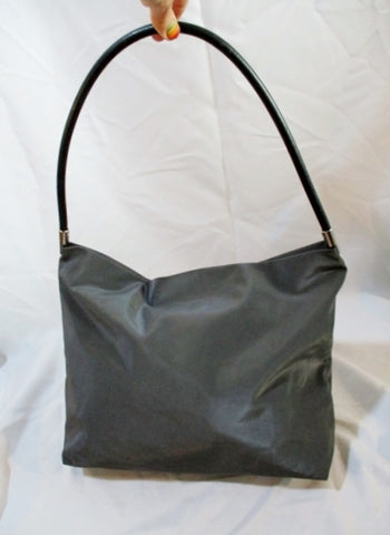 COLORIS FRANCE Leather  Shoulder BAG Shopper CHARCOAL GRAY BROWN
