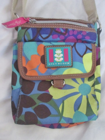 LILY BLOOM Signature Shoulder Bag Vegan Crossbody Swingpack Purse FLORAL MULTI