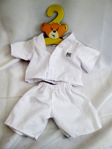 Lot Set Build A Bear Clothes Outfit Clothing TAEKWANDO KARATE UNIFORM Hanger